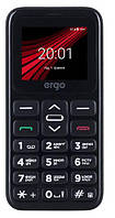 Телефон кнопочный на 2 сим карты для пожилых людей с фонариком Ergo F186 Solace черный