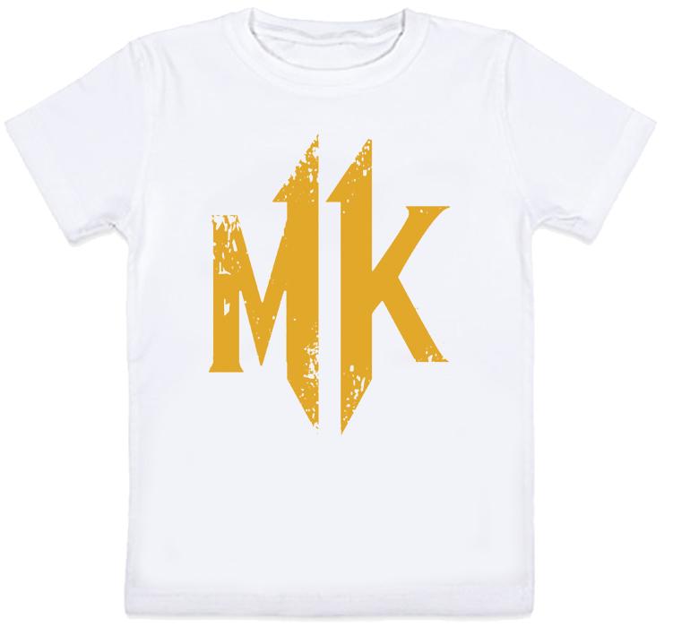 Детская футболка Mortal Kombat 11 - Logo (белая)