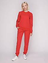 Костюм спортивный женский, цвет красный, фото 3