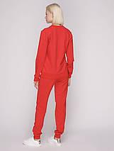Костюм спортивный женский, цвет красный, фото 2