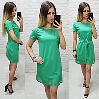 Платье летнее с выбитым рисунком, модель 109 трава