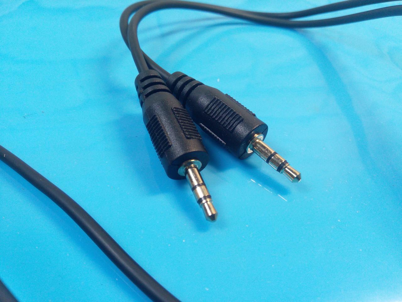 Аудио кабель AUX , штекер 3.5 jack стерео - штекер 3.5 jack стерео, черный 1м