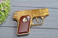 Красива подарункова запальничка у вигляді пістолета в коробці. Запальничка пістолет