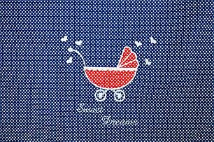 Постельное бельё в коляску Горошек (Синий), фото 2