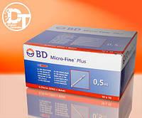Шприцы инсулиновые BD Микро Файн Плюс U-100 0,5 мл ( Micro Fine Plus U-100 0,5 ml) -  100 шт.