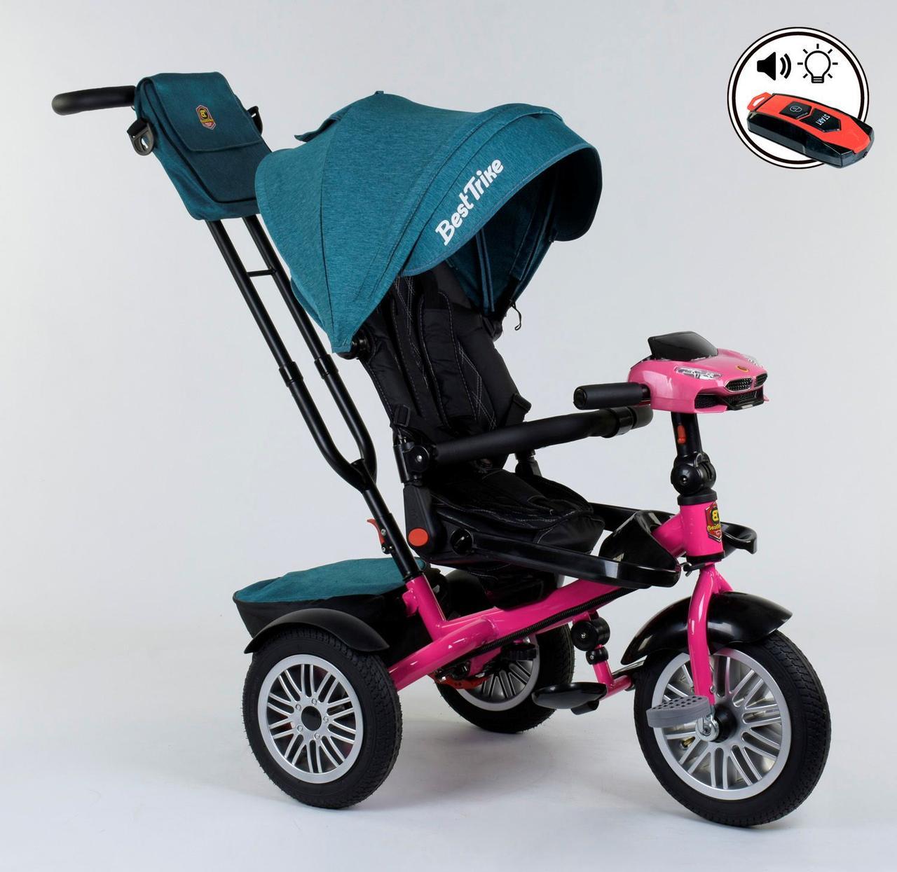 Велосипед 3-х колёсный 9288 В - 4265 Best Trike  ПОВОРОТНОЕ СИДЕНЬЕ, СКЛАДНОЙ РУЛЬ, ПУЛЬТ 76981