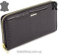 Кожаный кошелек клатч на молнии Marco Coverna