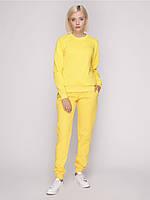 Костюм спортивный женский, цвет желтый