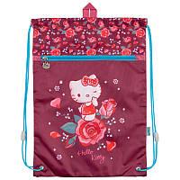 Сумка для обуви с карманом Kite Hello Kitty Бордовый HK18-601M-2, КОД: 706085