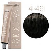 4-46 Краска для волос Schwarzkopf Professional Igora Royal Nude Tones - Средний коричневый бежевый шоколадный
