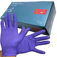 Перчатки нитриловые NITRYLEX violet (100 пар) неопудренные, нестерильные, диагностические