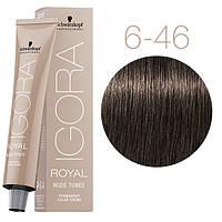 6-46 Краска для волос Schwarzkopf Professional Igora Royal Nude Tones - Темный русый бежевый шоколадный - 60мл