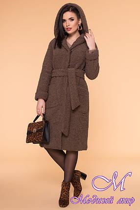 Зимовий хутряне пальто жіноче (р. S, M, L) арт. А-60-02/40595, фото 2