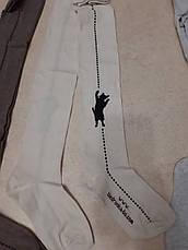 Детские трикотажные колготки с кошкой 128-134, 140-146 размер, фото 2