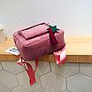 Рюкзак женский вельветовый городской Traveling Розовый, фото 8
