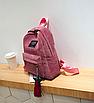 Рюкзак женский вельветовый городской Traveling Розовый, фото 9