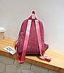 Рюкзак женский вельветовый городской Traveling Розовый, фото 7