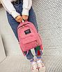 Рюкзак женский вельветовый городской Traveling Розовый, фото 5