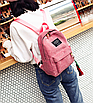 Рюкзак женский вельветовый городской Traveling Розовый, фото 4
