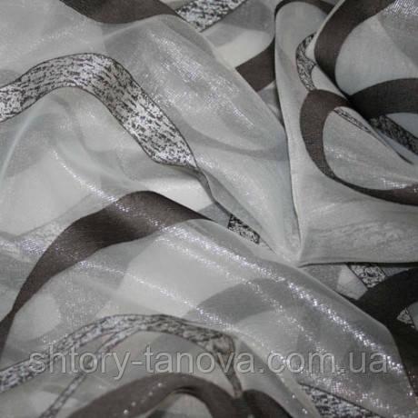 Органза эдельвейс т.серый