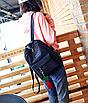 Рюкзак женский вельветовый городской Traveling Черный, фото 3