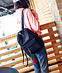 Рюкзак жіночий вельветовий міської Traveling Чорний, фото 3