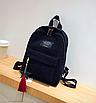 Рюкзак женский вельветовый городской Traveling Черный, фото 2