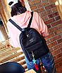 Рюкзак женский вельветовый городской Traveling Черный, фото 5