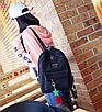 Рюкзак женский вельветовый городской Traveling Черный, фото 4
