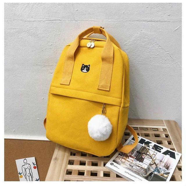 Сумка-рюкзак из холста желтый
