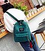 Рюкзак женский вельветовый городской Traveling Зеленый, фото 3