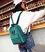 Рюкзак женский вельветовый городской Traveling Зеленый, фото 2