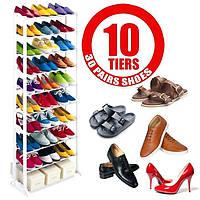🔥✅ Органайзер, полка для обуви Amazing Shoe Rack металлическая на 30 пар