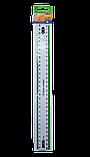Линейка 30см пластиковая прозрачная с цветной полосой, фото 3