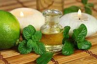 Массажное масло с маслом лимона и мяты