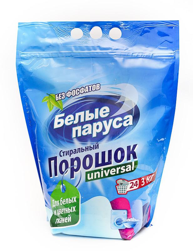 Стиральный порошок Белые Паруса Универсальный (3кг.)
