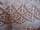 Шаль Ландыши  Ш-00023, белый, вышивка , оренбургский платок (шаль) с вышивкой, фото 6
