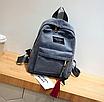 Рюкзак женский вельветовый городской Traveling Серый, фото 2