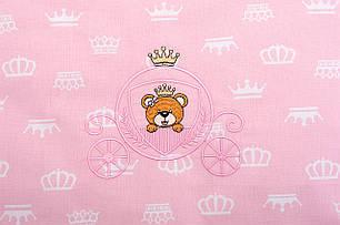 Постельное бельё в коляску Корона (розовый), фото 2