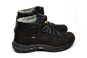 Зимние ботинки (на меху) мужские ECCO 13045 (реплика)
