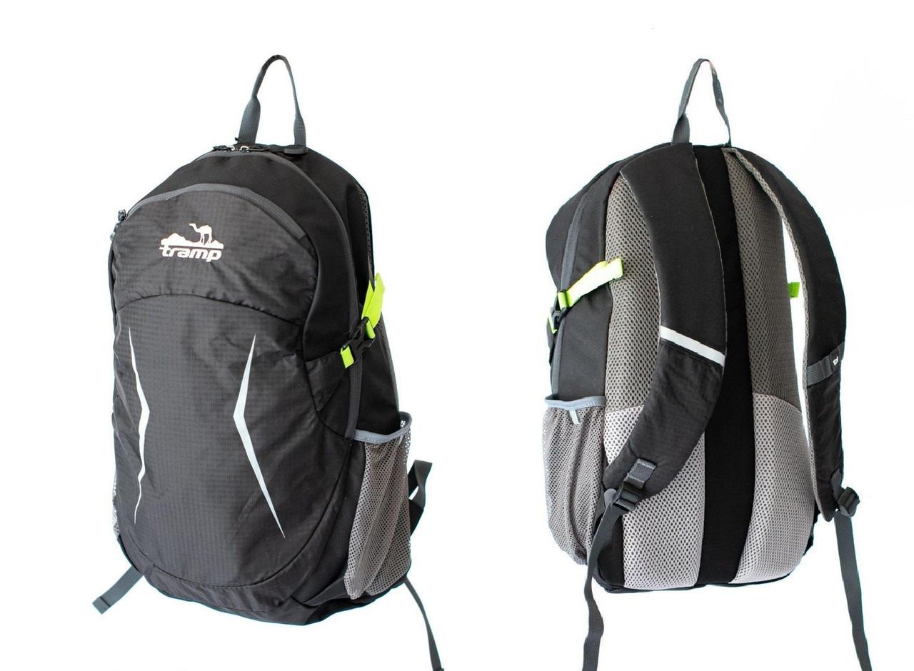 Рюкзак 28 л Tramp Crossroad чорний. Городской, спортивный рюкзак черный. Міський рюкзак.