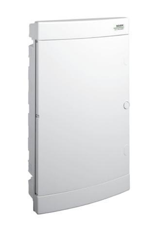 Модульный щиток, 3*18 модулей, 3 ряда, IP40, PNF 3*18W, белая дверца, фото 2