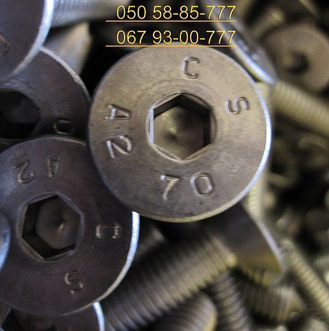 Винты DIN 7991 нержавеющие потайные с внутренним шестигранником.