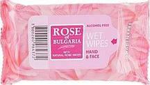 "Влажные салфетки ""Для рук и лица"" Биофреш Rose of Bulgaria  (1 упаковка/15 шт.)"