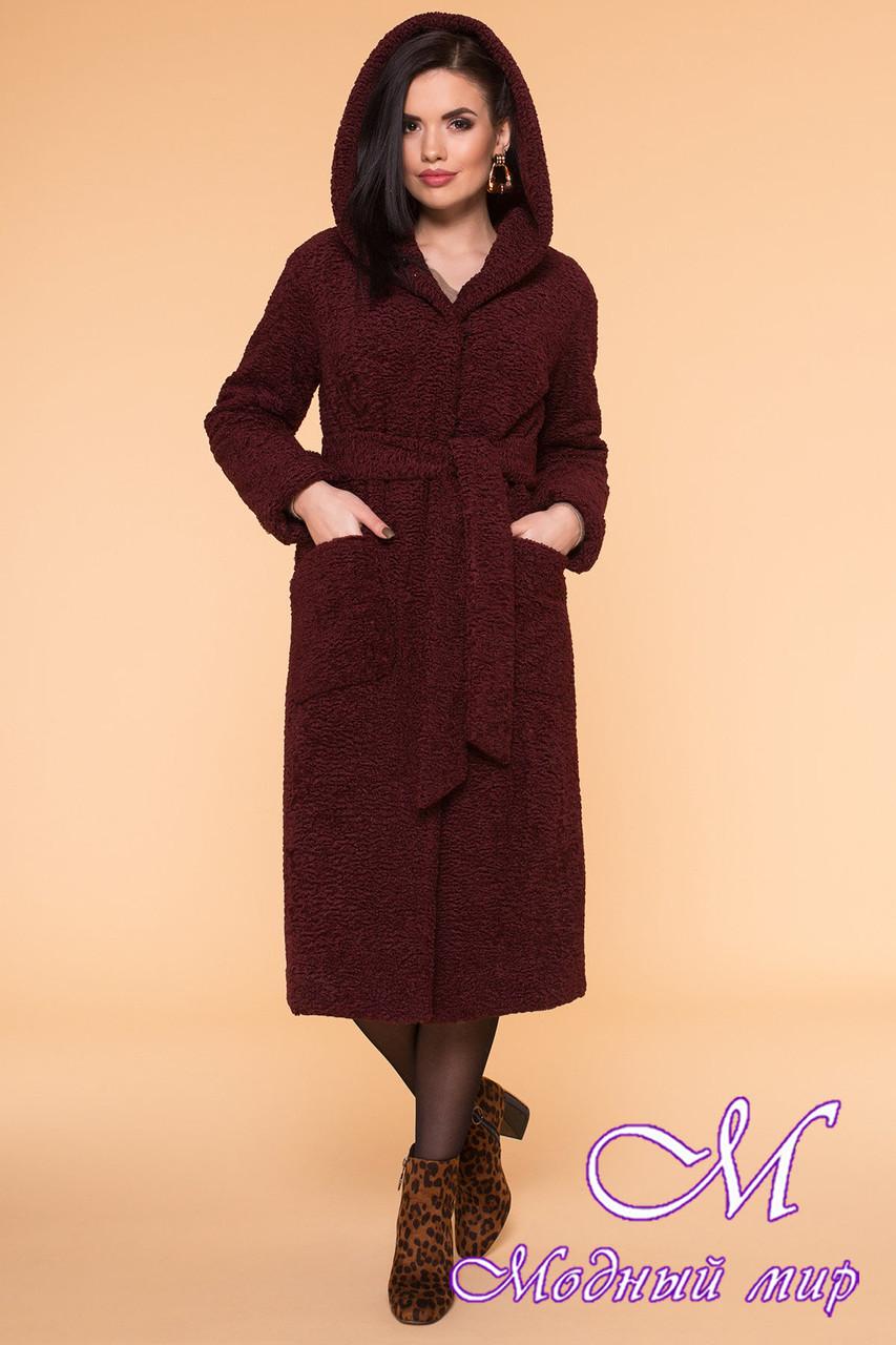 Женское меховое зимнее пальто с капюшоном (р. S, M, L) арт. А-60-12/40974