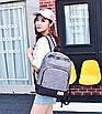 Рюкзак городской мужской женский Jim Bang Серый, фото 2