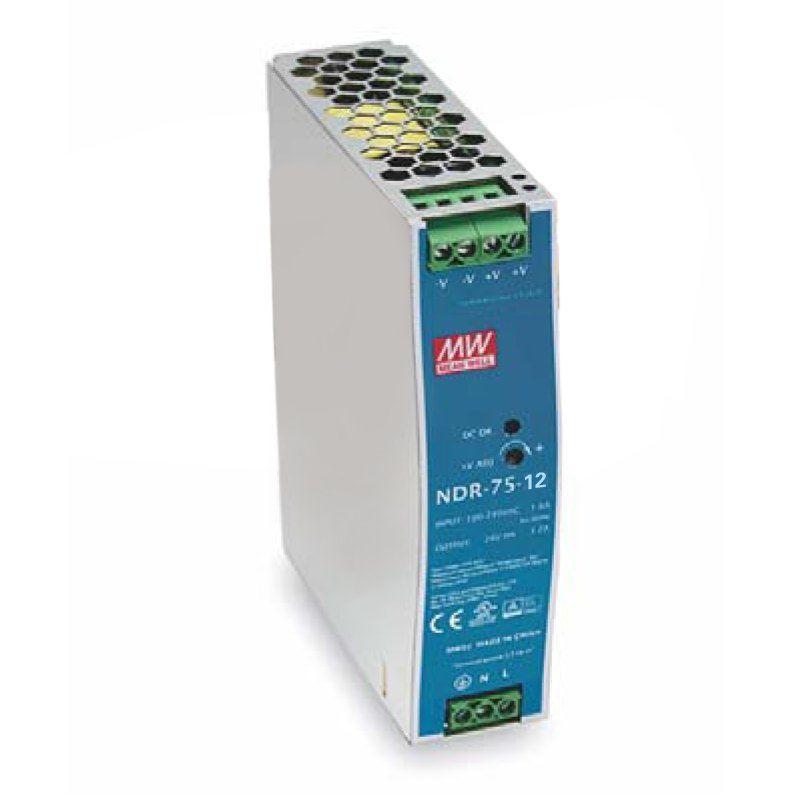 "Блок питания импульсный Mean Well на DIN-рейку 75,6W 12V (IP20, 6,3A) Series ""NDR"""