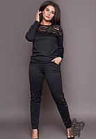 Спортивный костюм с гипюром-4 цвета 48,50,52,54, фото 1