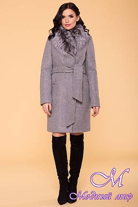 Зимнее пальто с красивым мехом (р. S, M, L) арт. Мила 6125 - 40819, фото 2