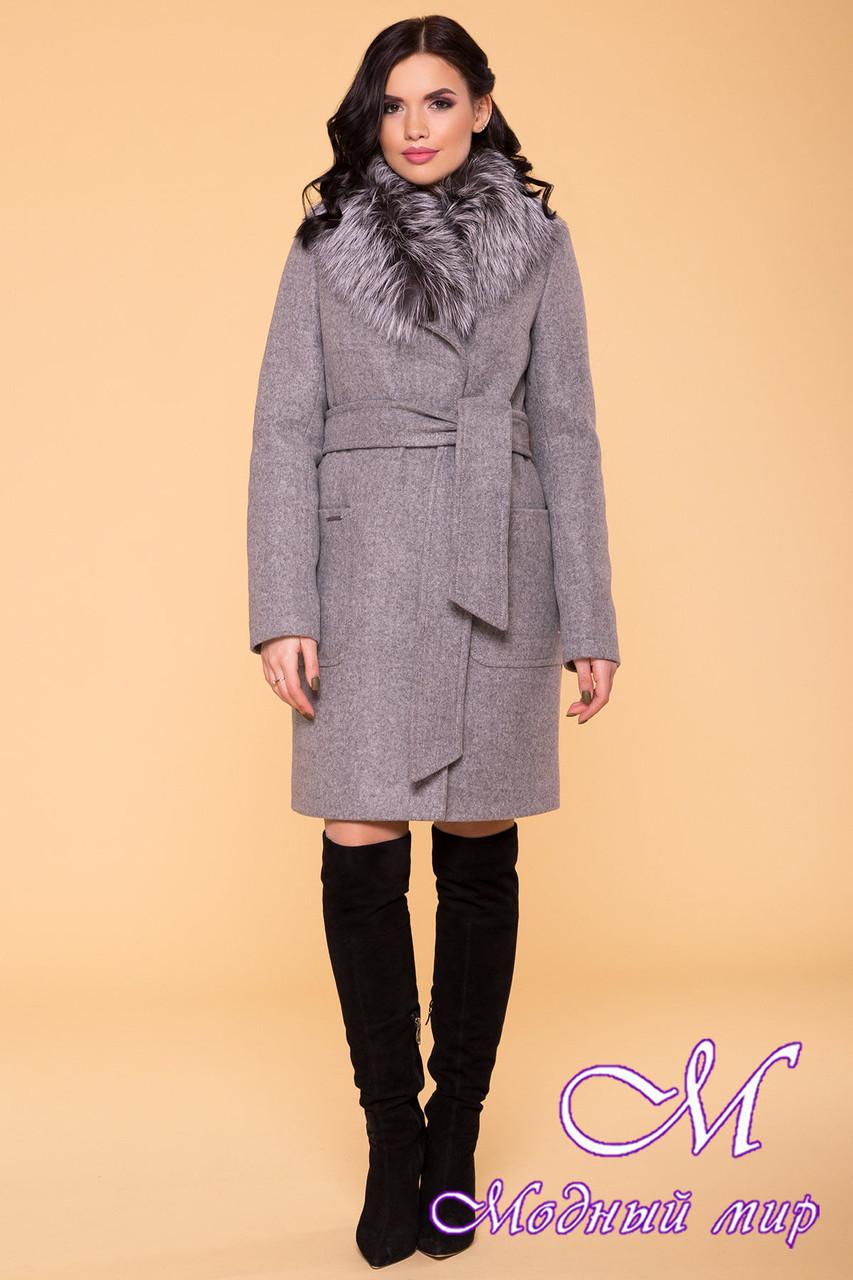Зимнее пальто с красивым мехом (р. S, M, L) арт. Мила 6125 - 40819